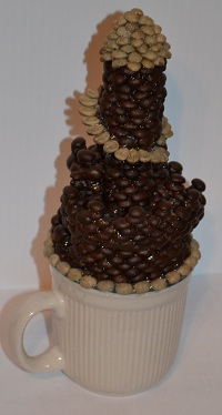 castle made of coffee beans